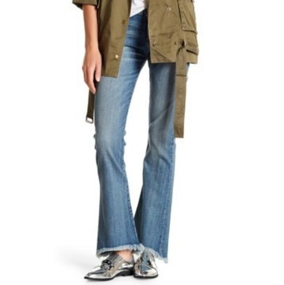 Current/Elliott Denim - Current/Elliot the flip flop raw hem flared jeans